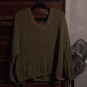 Beautiful olive green casual sweater